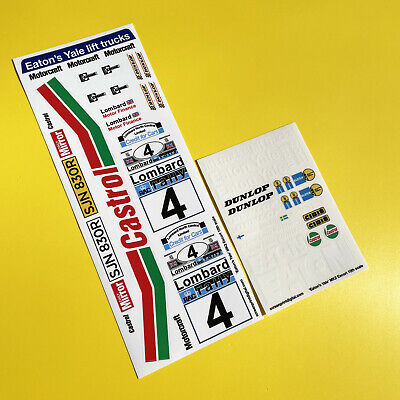 RC 10th 1:10 Scale 'EATON'S YALE' ESCORT MK2 1978 RAC RALLY Stickers Decals • 11.95£
