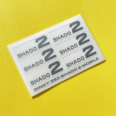DINKY No. 353 U.F.O SHADO 2 MOBILE SILVER Sticker Decal Reproductions • 4.95£