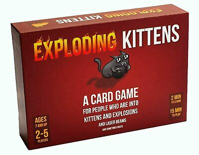 Exploding Kittens Card Game Brand New Best Copy Original Edition 2-5 Players • 11£