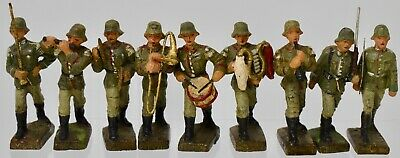 LINEOL GERMANY COMPOSITION -54mm WW2 GERMAN BAND - LOT E7 • 29£