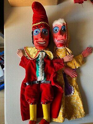 MR. PUNCH And His Wife JUDY Two Puppets For Your Punch Show • 66£