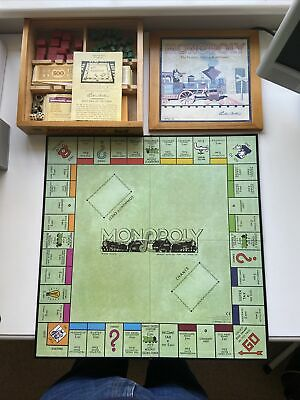 Monopoly Vintage Timeless Collectible Edition Board Game In Wooden Box • 7£