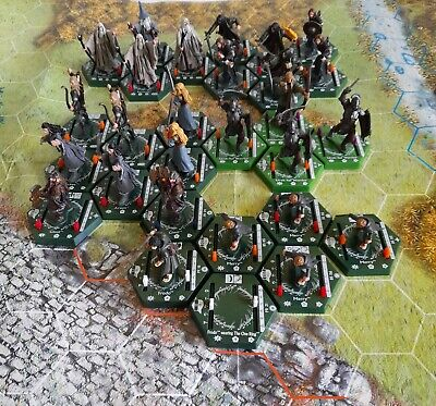Lord Of The Rings Combat Hex × 28 With Playmat And Rulebook Sabertooth Games  • 16£