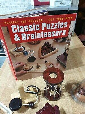 Wooden Puzzle Collection - 18 Classic Puzzles And Brainteasers (Hachette) • 45£