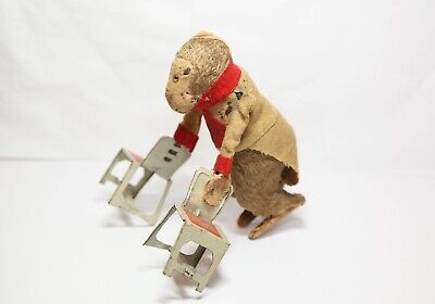 Vintage Clockwork Monkey With Chairs - Excellent Model Rare  • 149.95£