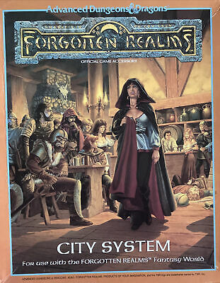 Advanced Dungeons & Dragons 2nd Ed-Forgotten Realms City System-BOXED-Waterdeep • 11.97£
