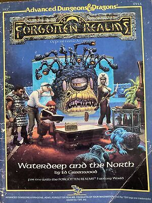 ADVANCED DUNGEONS AND DRAGONS, Forgotten Realms, Waterdeep And The North • 6.50£
