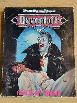 TSR, AD&D RPG (2nd Edition) - RAVENLOFT, REALM OF TERROR BOXED SET (1990) • 30£