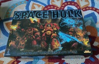 Space Hulk Board Game, Box Opened, All Parts Included (2009) • 90£