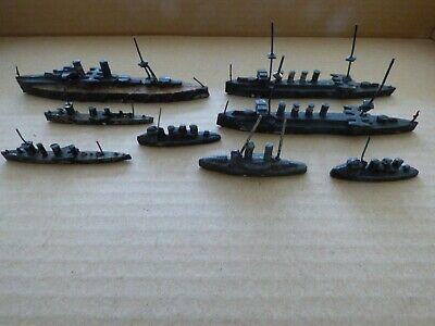 8 Vintage Lead Battleship And Other Naval Ships • 4£