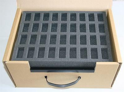 5 X 36 Compartment Foam Tray Inserts + Cardboard Carry Case / Warhammer N Gauge • 36.99£