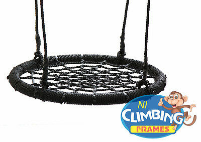 Kids Basket Crows Nest Swing Seat Set BLACK BARGAIN! 60cm Climbing Frame Tree  • 59.95£