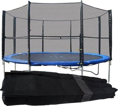 8FT 10FT 12FT 14FT Replacement 6 8 Pole Trampoline Safety Net Enclosure Surround • 27.95£