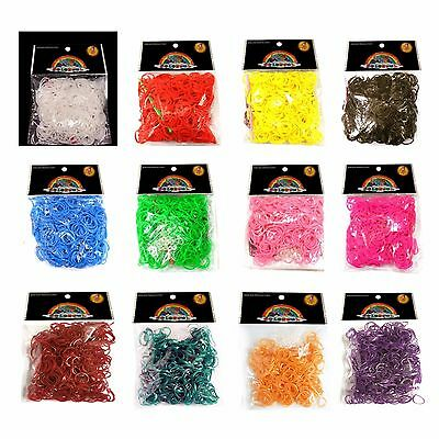 Loom Bands  600 Rubber Bands  Loom Band S Clips  Lots Of Colours UK Stockist • 2.99£