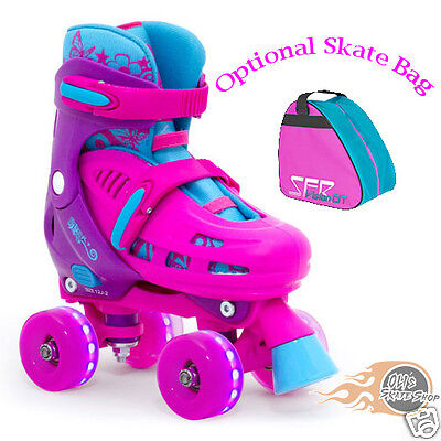 SFR Lightning Hurricane Adjustable Quad  Roller Skates  Light Up Flashing Wheels • 54.95£