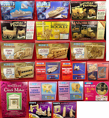 Match Stick Modelling Kits - Over 25 Designs To Choose From • 19.99£