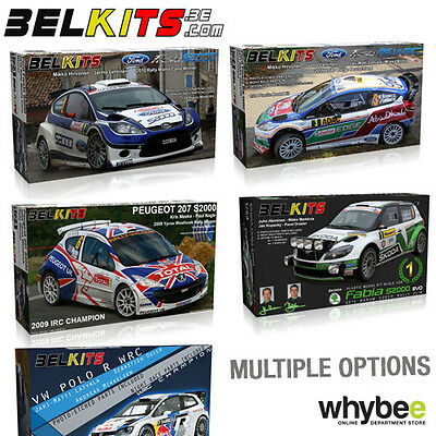 New! Belkits 1/24 Scale Rally Wrc Car Plastic Model Kits - Photo Etched Parts! • 34.99£