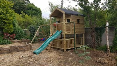 LAS VEGAS - Playhouse On Stilts, Children Outdoor Fun Playhouse, Climbing Frame • 1,396£