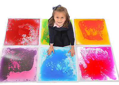 Liquid Floor Tiles-Special Needs Sensory Educational Toy 50cm X 50cm | 6 Colours • 34.99£