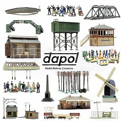 Dapol Plastic Model Building Kits OO HO Gauge Scale Railway Track Side Figures • 9.59£