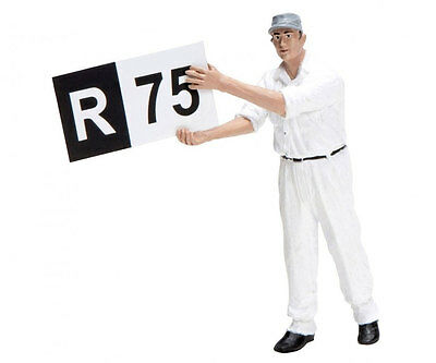 Schuco  Trackside Pit Crew Member With Board - 1/18 Scale Die-cast Figurine • 39.99£