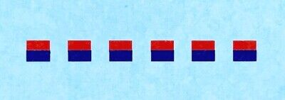 Dinky Army - Military Vehicles | 3mm Signs  Red / Blue | Waterslide / Decal • 1.55£