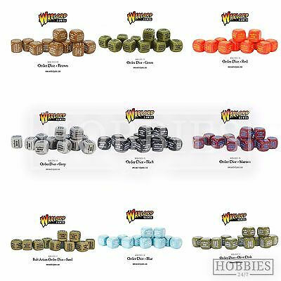 Bolt Action Order Dice WWII Wargames Warlord Games Black Green Commands 12 Pack • 11.99£