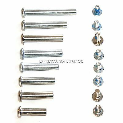 Push Scooter Axle Bolt Smooth Strong Alloy Complete With Screw Nut • 1.85£