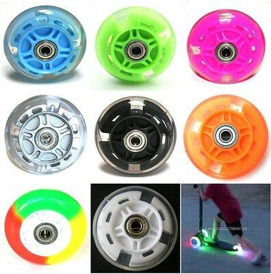 LED FLASH WHEEL MINI Or MAXI MICRO SCOOTER FLASHING LIGHTS BACK REAR ABEC-7 80mm • 7.85£