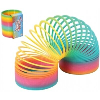 NEW Mega Rainbow Stair Spring Toy - Coloured 10cm Wide Gift Novelty Childs Kids • 7.49£