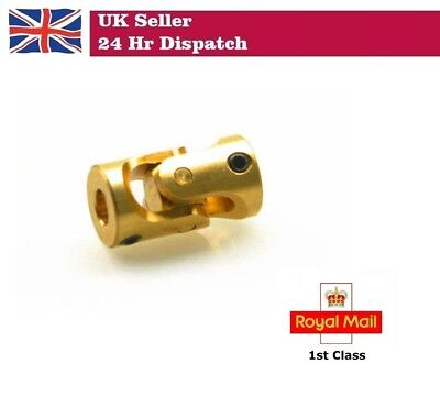 Brass Universal Joint Shaft Coupling Connector RC Model Boat Car 3 X 3mm  3-3mm • 4.50£