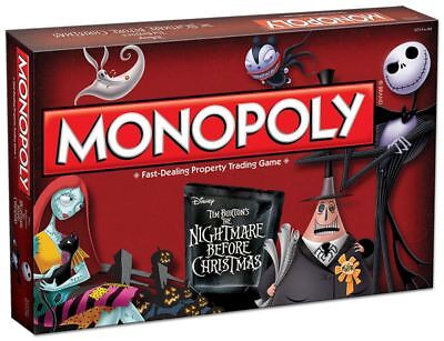 Disney Tim Burtons ' The Nightmare Before Christmas' Monopoly Board Game • 28.47£