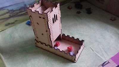 MDF Dice Tower In The Design Of A Castle Tower Personailsed • 7£
