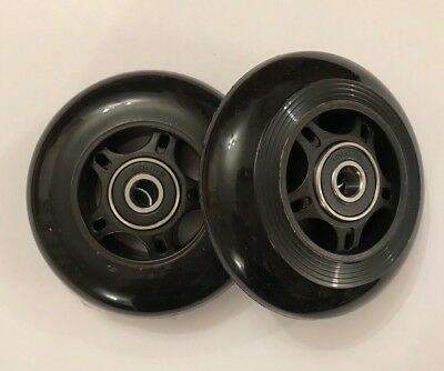 MICRO MAXI SCOOTER REPLACEMENT REAR WHEELS - Incl Rubber Sealed Bearings- 80mm • 13.50£