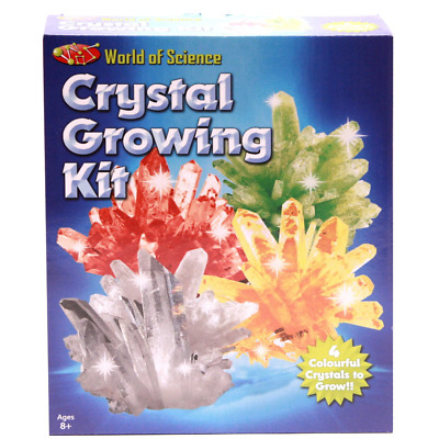 World Of Science Crystal Growing Kit Grow Your Own 4 Colourful Crystals Learn 8+ • 6.48£