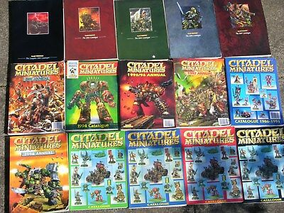 Games Workshop, Citadel Catalogues Multi-listing • 40£