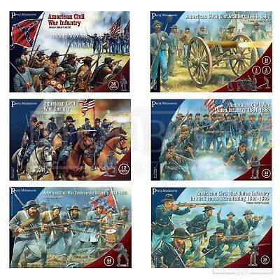 Perry Miniatures American Civil War Figures 28mm ACW Union Confederate Plastic • 21.99£