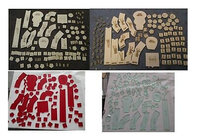 Gasland Templates And Tokens Templates In Wood Or White  Colour Acrylic • 7.99£