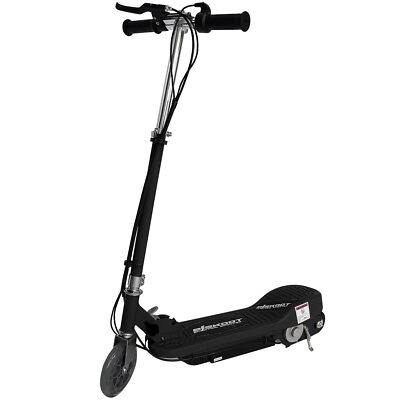 Kids Electric Scooter Black Escooter 24v Ride On Battery Childrens Toy Fast Bike • 69.99£