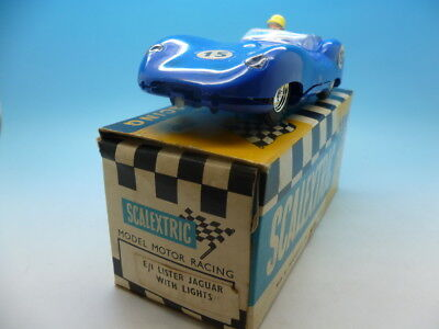 Scalextric E1 Lister Jaguar With Lights, Nice Car And Boxed • 95£