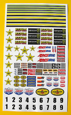 SLOT CAR SCALEXTRIC 1/32nd SCX CORR Sponsor Logo Stickers Decals • 7.95£