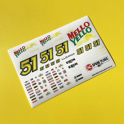 SLOT CAR SCALEXTRIC 1/32nd 'Days Of Thunder' Stickers Decals NASCAR • 4.95£