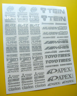 RC Drift SILVER Stickers Decals HPI Losi Drift-R Kyosho • 9.95£