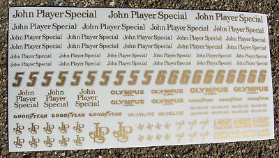 SLOT CAR SCALEXTRIC 1/32nd Scale 'JPS' Stickers Decals • 6.95£