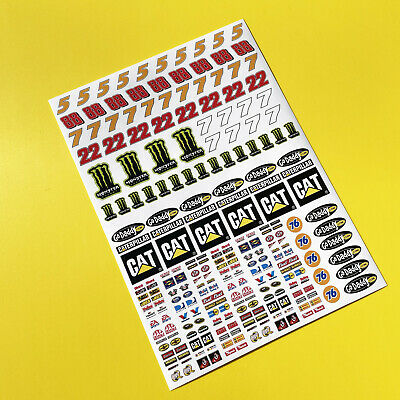 SLOT CAR SCALEXTRIC 1/32nd Scale Nascar Stickers Decals • 8.95£