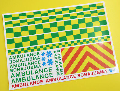 RC ROCK CRAWLING 'AMBULANCE' 10th Scale Decals Stickers HPI TRAXXAS TRX-4 • 9.95£