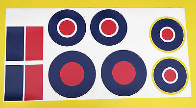 RC Aircraft Plane RAF LARGE SCALE ROUNDELS  Stickers Decals SET 2 • 19.95£