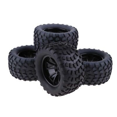 103mm Rubber Tires Tyres 1.9  Wheels For 1/10 RC Crawler Monster Truck Car C • 16.81£