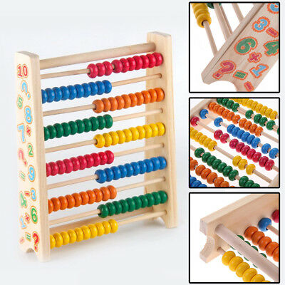 20cm Wooden Bead Abacus Counting Frame Childrens Kids Educational Maths Toys UK • 10.29£