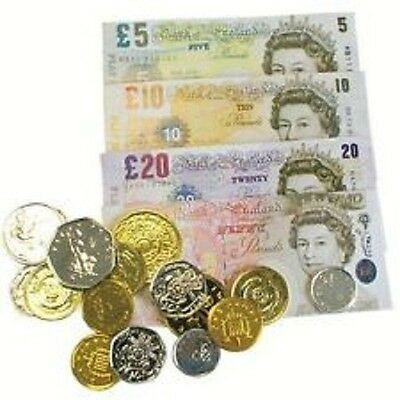 Play Money Sterling Pounds Coins & Notes - Fun Children Party Bag • 2.77£